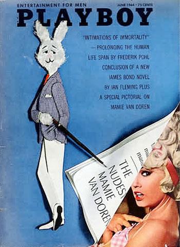 June. 1964 - Cover : Mamie van Doren / PlayMate : Lori Winston