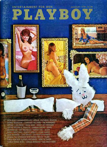 January. 1970 - Cover : Jean Bell,Lorrie Menconi,Kathy MacDonald,Shay Knuth,Leslie Bianchini / PlayMate : Jill Taylor