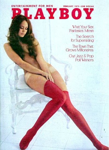 February. 1973 - PLAYBOY Cover : Jeanette Larson / PlayMate : Cyndi Wood