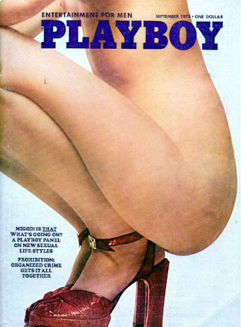 September. 1973 - PLAYBOY Cover : unidentified model / PlayMate : Geri Glass